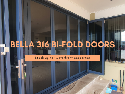 Bella 316 Bi-Fold Doors Stack Up